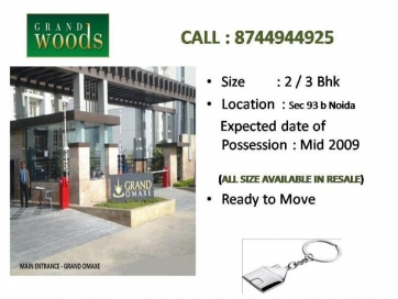 2 Bhk Flat In Omaxe Grandwood @ 8744944925